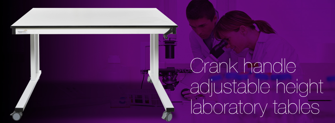 Crank Handle Lab Table