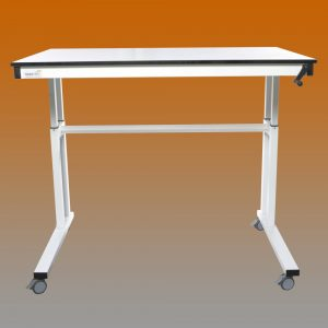 crank handle adjustable lab table 2
