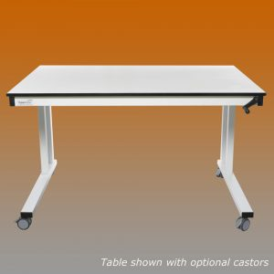 crank handle adjustable lab table